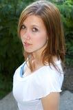 gullig brunett Royaltyfri Bild