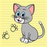 Gullig Cat Means Adorable Pet And kattdjur royaltyfri illustrationer