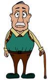 Gullig chuby morfar Arkivfoton