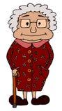 Gullig chuby mormor Arkivbild
