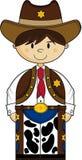 Gullig cowboy Sheriff Arkivfoton