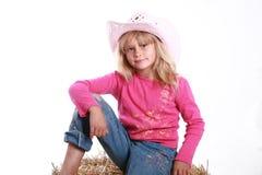 gullig cowgirl little Royaltyfria Foton