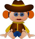gullig cowgirl little Royaltyfria Foton