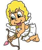 Gullig Cupid Royaltyfri Bild