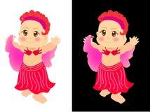 gullig dansare för buk Arkivbild