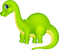 gullig dinosaur för tecknad film Royaltyfria Bilder