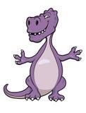gullig dinosaur för tecknad film Arkivfoton