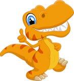 gullig dinosaur för tecknad film Arkivbild