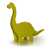 Gullig dinosauriegemkonst. Arkivbilder