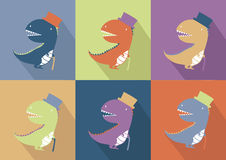 Gullig dinosauriemonstertecknad film Royaltyfria Foton