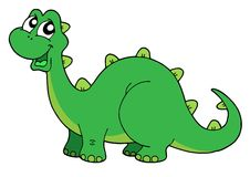 gullig dinosaurillustrationvektor Royaltyfri Bild