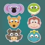 gullig djur head symbol Arkivfoto