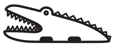 Gullig djur krokodil - illustration Royaltyfria Foton