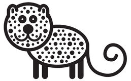 Gullig djur leopard - illustration Royaltyfri Bild
