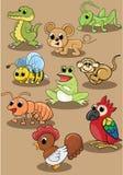 Gullig djur uppsättning för hundvektorillustration vektor illustrationer