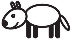 Gullig djur varg - illustration Royaltyfria Bilder
