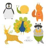 gullig djursamling Royaltyfri Bild