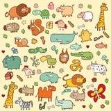 Gullig djurUPPSÄTTNING XL royaltyfri illustrationer