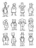 gullig doktor för djur tecknad film vektor illustrationer