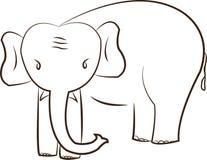 Gullig elefant vektor illustrationer