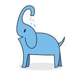 Gullig elefant Arkivfoton