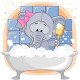 gullig elefant Arkivfoto
