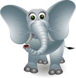Gullig elefanttecknad film Royaltyfri Bild