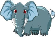 Gullig elefanttecknad film royaltyfri illustrationer