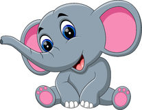 Gullig elefanttecknad film Arkivbild