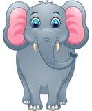 Gullig elefanttecknad film Vektor Illustrationer