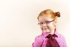 gullig elegant flickaståenderedhead Royaltyfri Fotografi