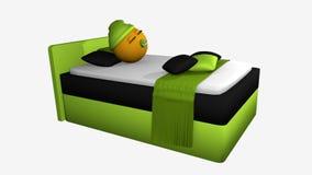 Gullig emoticon med att sova locket och fredsmäklaren Royaltyfri Fotografi
