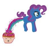 Gullig enhörning och rolig muffin Royaltyfria Foton