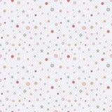 Gullig enkel sömlös modell i pastellfärgade färger med mång--färgade prickar vektor Trycket för tillverkningen av barn vektor illustrationer