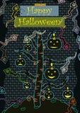 gullig eps lyckliga halloween stock illustrationer