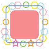 Gullig färgrik geometriabstrakt begreppbakgrund Royaltyfri Fotografi