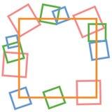 Gullig färgrik geometriabstrakt begreppbakgrund Arkivfoto
