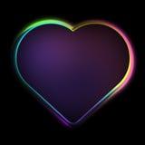 Gullig färgrik hjärta Arkivfoto