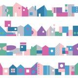 Gullig färgrik husbakgrund Royaltyfri Foto