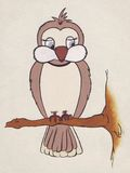 gullig fågel Arkivbild