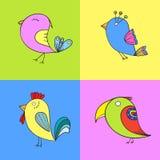 Gullig fågel royaltyfri illustrationer