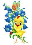 gullig fågelunge royaltyfri illustrationer