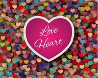 Gullig förälskelsekortdesign Arkivfoto