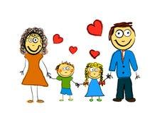 gullig familj Royaltyfria Bilder