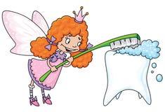 gullig felik tand stock illustrationer