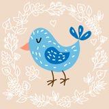 Gullig fågel Arkivfoto
