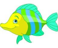 Gullig fisk royaltyfri illustrationer