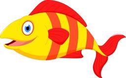 Gullig fisktecknad film Arkivfoton
