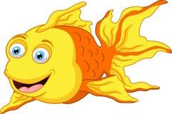 Gullig fisktecknad film Stock Illustrationer