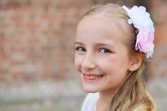 gullig flicka Fotografering för Bildbyråer